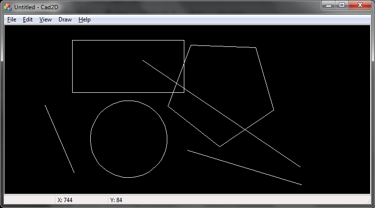 CAD 2D Draw - Geometry Library with VC++ Source Codes