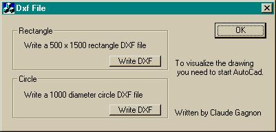 DXF File, Drawing, Loading, Write, Download VC++ MFC Source Code