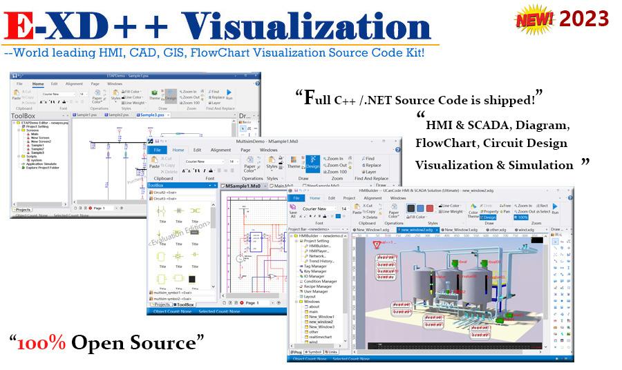 EXD Visualization HMISCADA CAD GIS Developer Tools – Hmi Developer